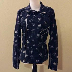 Romeo + Juliet Couture  Floral Biker Jacket